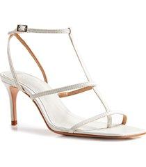 women's schutz ameena t-strap thong sandal, size 11 m - white