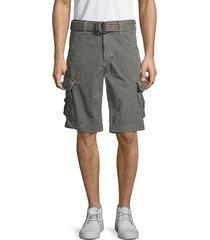 jetlag men's belted cotton cargo shorts - dark grey - size 31