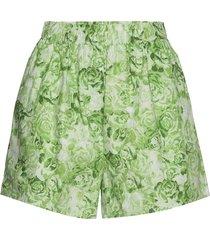 printed cotton poplin shorts flowy shorts/casual shorts grön ganni