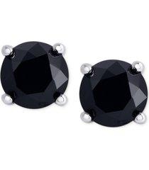 black diamond stud earrings (1 ct. t.w.) in sterling silver