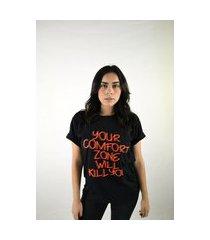 camiseta t-shirt comfort zone mari telli preta