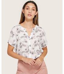 blusa manga corta estampada