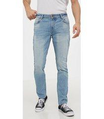 solid joy 2 blue266 str slim jeans denim blå