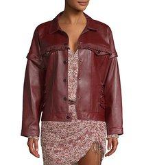 parker fringe leather jacket