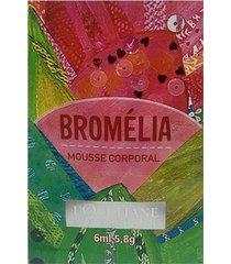 amostra mousse desodorante corporal bromélia 6ml