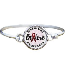 bracelet mom or dad charm only sickle cell awareness believe silver jewelry