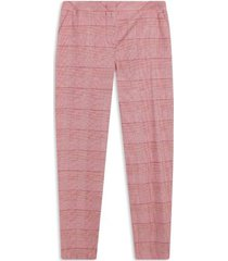 pantalón mujer chino cuadros color rojo, talla 10