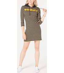 tommy hilfiger striped cotton hoodie dress