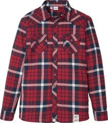 camicia in flanella di cotone biologico delicato sulla pelle (rosso) - john baner jeanswear
