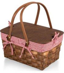 picnic time kansas handwoven wood picnic basket
