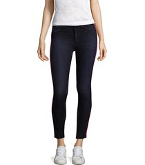 rozz high-rise racing stripe skinny jeans