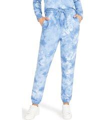 women's bb dakota by steve madden sky walker tie dye joggers, size small - blue