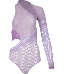 dina bodysuit violet