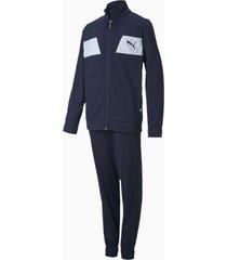 polyester trainingspak, blauw, maat 104 | puma