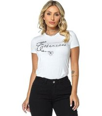 t-shirt daniela cristina gola u 02 602dc10277 branco pp - feminino