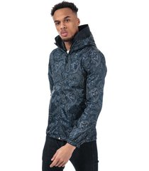 pretty green mens paisley print hooded jacket size l in blue