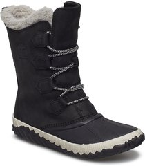 out n about plus tall shoes boots long ankle boots flat heel svart sorel