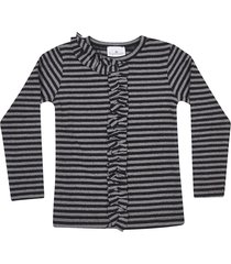 le petit coco striped cardigan