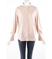 brunello cucinelli beige pink cotton monili button up top beige/pink sz: l