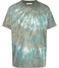 john elliott tie dye-print short-sleeved t-shirt - green