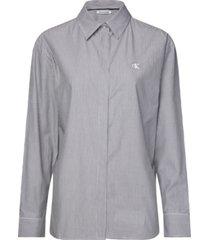 camisa manga larga clean relaxed poplin shirt gris calvin klein