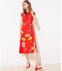 loft petite lily cap sleeve midi dress