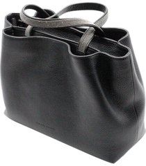 fabiana filippi inga handbag with double handles with monili and zip closure and double compartments measuring 30 x 21 x 11 cm