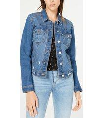 tinseltown juniors' distressed jean jacket