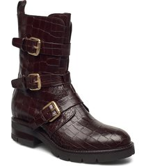 bikerboot shoes boots ankle boots ankle boot - flat brun apair