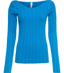 maglione a coste con cut-out (blu) - bodyflirt boutique