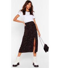 womens say no roar animal midi skirt - black