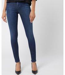 j brand women's 23110 maria high rise blue blend skinny jeans - fix - w28/l32
