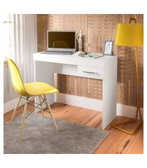 mesa para notebook artely 2083 home office 1 gaveta branca