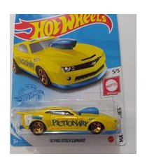 carrinho hot wheels - básico - sortido - 10 pro stock camaro mattel