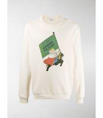 lanvin babar print sweatshirt