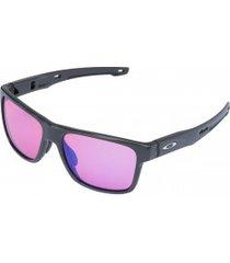 óculos de sol oakley crossrange prizm - unissex - cinza escuro