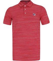 camisa polo fila action ii - masculina - vermelho