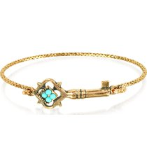 alcozer & j designer bracelets, turquoise key bracelet
