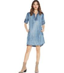 bella dahl a-line shirt dress licht blauw