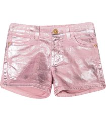 young versace pink denim shorts