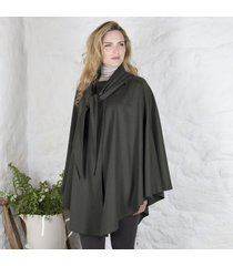 hourihan ladies single faced cape olive green