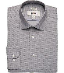 joseph abboud brown dot modern fit dress shirt