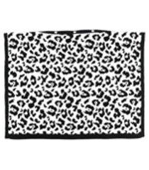 ami amalia manta com estampa de leopardo - branco