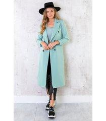 ultra long coat mint
