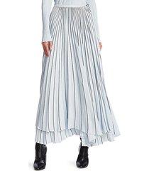 asymmetric pleated cady skirt
