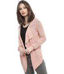 cardigan vero moda sana ls drapy rosa - calce holgado