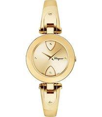 gilio goldtone stainless steel bangle bracelet watch
