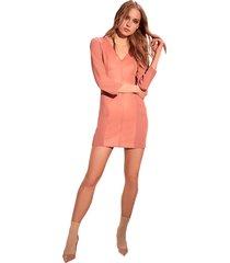 vestido alphorria recortes rosa