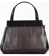 celine medium edge python handbag