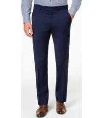 tommy hilfiger men's modern-fit th flex stretch navy twill suit pants